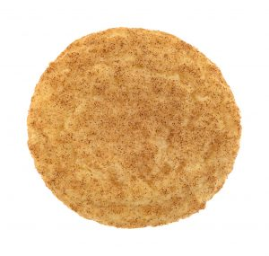 Fresh baked snickerdoodle cookie top view